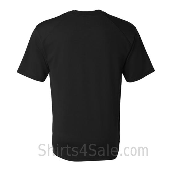 black short sleeve performance tee shirt for men back view