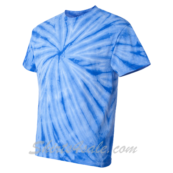 Blue Cyclone Pinwheel Short Sleeve T-Shirt side view