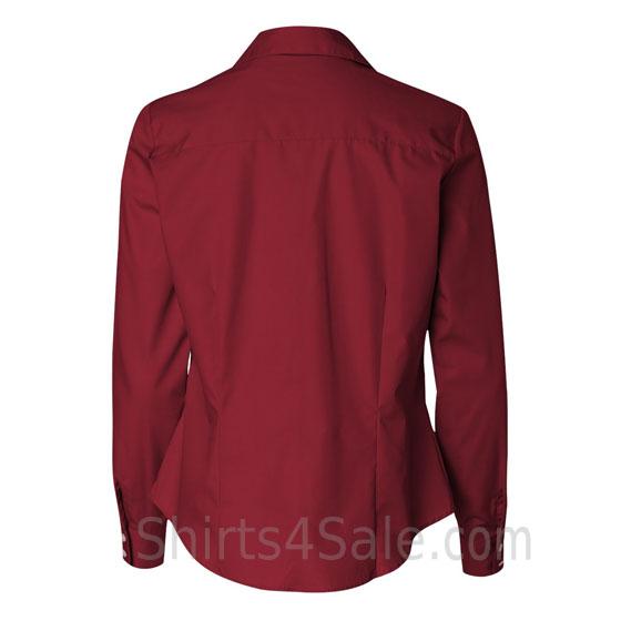 Cardinal Ladies Silky Poplin Dress Shirt back view