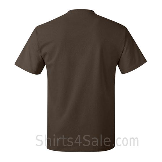 dark brown neck tag-free men's t shirt back view