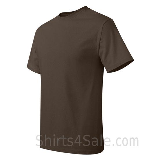 dark brown neck tag-free men's t shirt side view