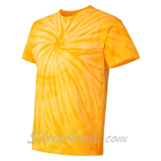 Gold Yellow Cyclone Pinwheel Short Sleeve T-Shirt side view