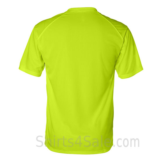 neon Yellow t-shirt with sport shoulders back view