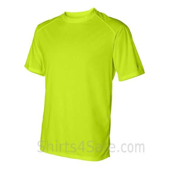 neon Yellow t-shirt with sport shoulders side view