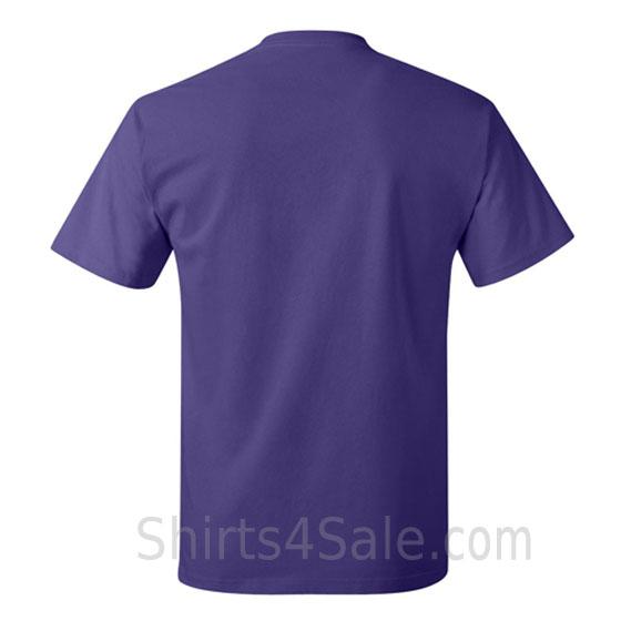 purple neck tag-free men's t shirt back view