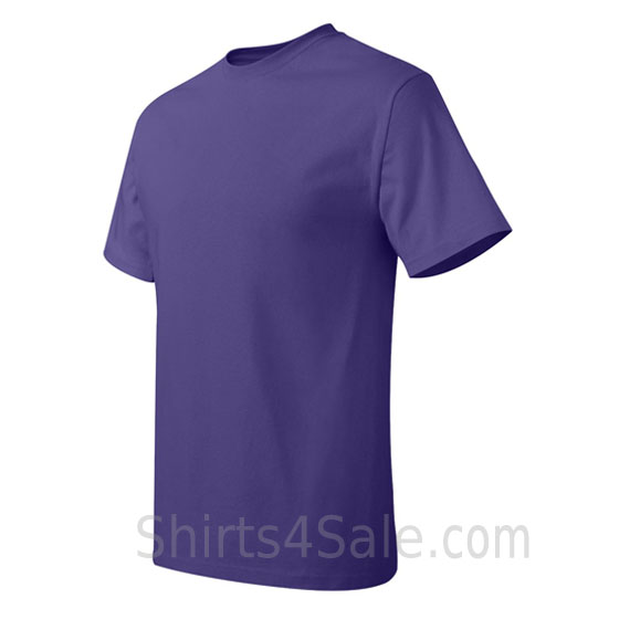 purple neck tag-free men's t shirt side view