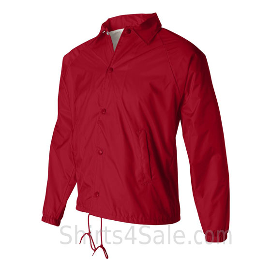 red water resistant coach's jacket