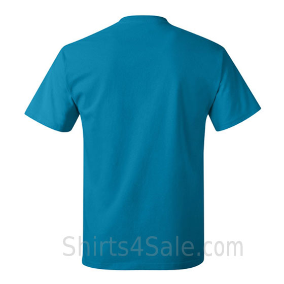 teal neck tag-free men's t shirt back view