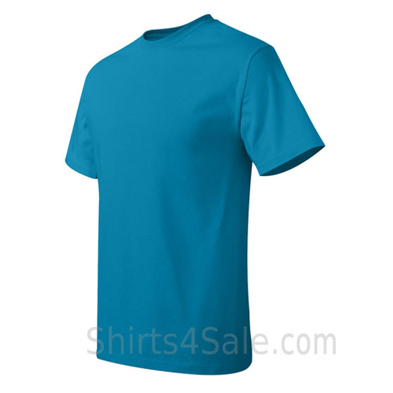 teal neck tag-free men's t shirt side view