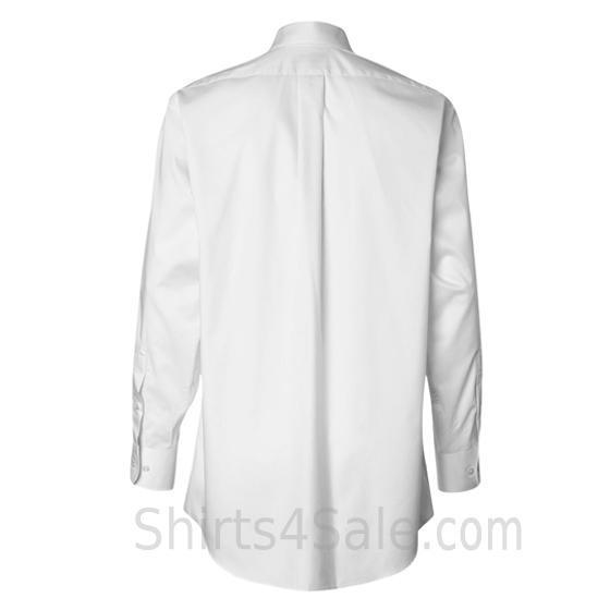 white long sleeve men's fashion twill dress shirt back view