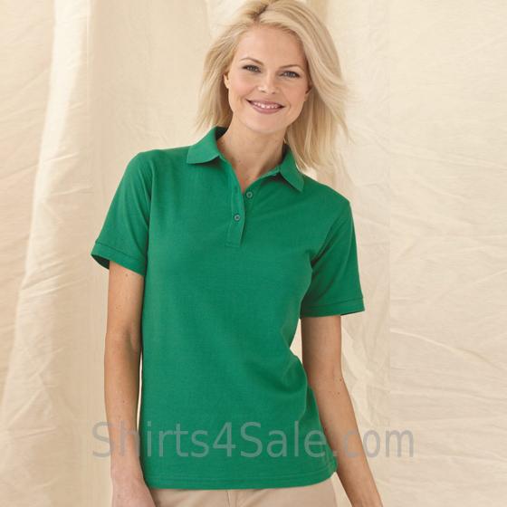 Womens Pique Knit Sport Shirt